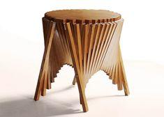 Rising Side Table, 2012  Robert van Embricqs  www.robertvanembricqs.com  via yankodesign.com    for #form