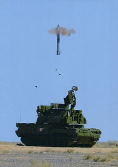 TOR-M2U short-range air defense missile system, launching 9M331 surface-to-air missile (SAM)