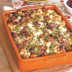 Thanksgiving recipes: Sausage-and-Fennel Stuffing. Traditional stuffing gets an Italian twist with the inclusion of fennel and sweet Italian sausage in this recipe. If you prefer something sweeter, try using cranberries and chestnuts instead.