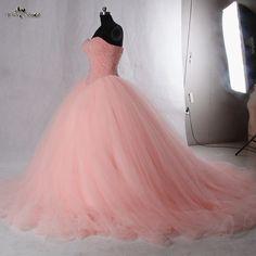 RSE942 Princesa Coral Vestidos Quinceanera vestido de Baile Vestido de Baile