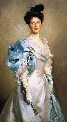 John Singer Sargent (American expatriate artist, 1856-1925) Mrs Joseph Chamberlain