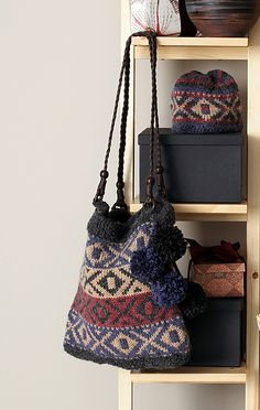 9627cc01c3ba Ravelry  Peruvian Fair Isle Set - Bag pattern by Bernat Design Studio