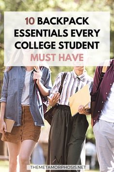 These college backpack essentials are must-haves for college girls! Don't forget these essentials when doing your back to school shopping this year! #college #backpack College Freshman Tips, First Day Of College, College Memes, College Quotes, College Classes, Scholarships For College, College Fun, College Students, College Hacks
