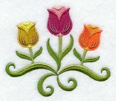 Tulip Towel - Embroidered Towel - Flower Towel - Embroidered Towel - Flour Sack Towel - Hand Towel - Bath Towel - Apron - Fingertip Towel by on Etsy Machine Embroidery Patterns, Crewel Embroidery, Custom Embroidery, Applique Designs Free, Folk Art Flowers, Embroidered Apron, Stained Glass Quilt, Beadwork Designs, Cross Stitch Flowers