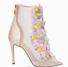 Giannico Margherita Floral Booties