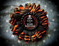 Scare Everyone PETITE hair flower by LttleShopOfHorrors on Etsy, $6.50