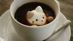 Cat-shaped marshmallows for the most adorable latte.