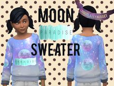 A Found in TSR Category 'sims 4 Female Child Everyday' Sims 4 Tsr, Moon Child, Holidays, Female, Children, Sweaters, Clothes, Women, Young Children