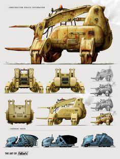 The Art of Fallout 4 - /// Vault 13 — ЖЖ Fallout 4 Weapons, Fallout Art, Fallout New Vegas, Fallout Cosplay, Fallout Concept Art, Game Concept Art, Retro Futuristic, Futuristic Design, Futuristic Technology