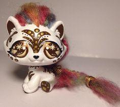HobbyMomCustoms Littlest pet shop Kitty Cat * Custom Hand Painted LPS OOAK #Hasbro