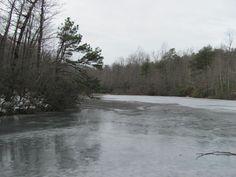 Frozen lake at Hanging Rock