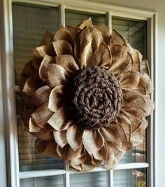 Burlap wreath idea--still searching for instructions to make