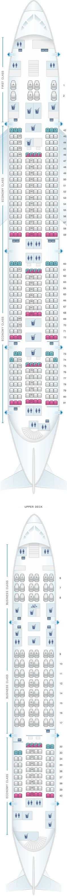 Seat Map Malaysia Airlines Airbus A380 800