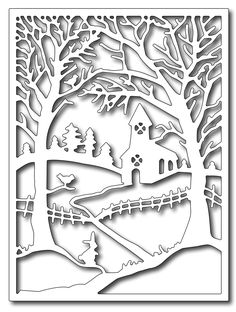 Frantic Stamper Precision Die - Winter Church in the Wildwood Panel