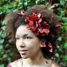 650x650 satin flower and ribbon headpiece