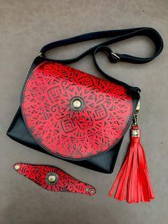 42f7b5a46cf5 Boho Bag, Bohemian leather bags, Shoulder Bag, Genuine Leather Bag, Black  and
