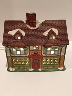 "Dickens Of London Porcelain Collectable ""Horn Coffee Shop"" Iluminated - Hand-Painted -- Awesome products selected by Anna Churchill"
