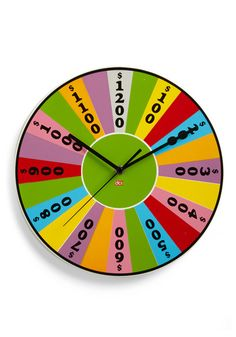 Awesome Wheel of Fortune style clock (Time is Money Clock)