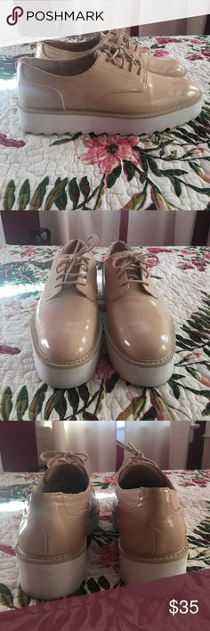 Zara platform shoes Gently used! Zara Shoes Platforms