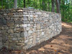 rock retaining walls - Google Search