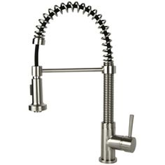 Fontaine Residential Coil Spring Brushed Nickel Faucet (Brushed Nickel),  Silver
