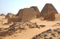 Meroe pyramids in Sudan