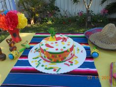 Mexican Fiesta Birthday Party Ideas   Photo 23 of 36   Catch My Party