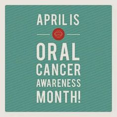 April is Oral Cancer awareness month. We want to emphasize the importance of having oral cancer screenings frequently. Did you know we give each patient an oral cancer screening at EVERY visit? It's that important! #oralcancerawarenessmonth  David Toney DDS - Google+