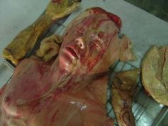 Bizarre Bakery In Thailand..these are baked goods made to resemble corpses