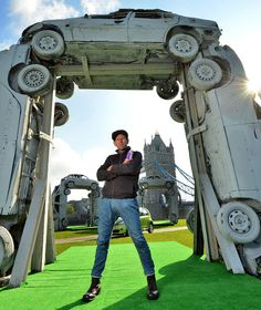 Stonehenge Recreated out of Old Car Parts