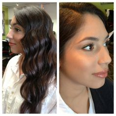Modern fingerwaves, long hair, 20's hair, 30's hair, 40's hair, airbrush makeup, fingerwaves, wavy