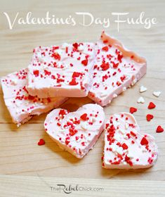 2 ingredient valentine's day fudge