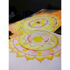 Mandalas plumones acuarelables plexo solar