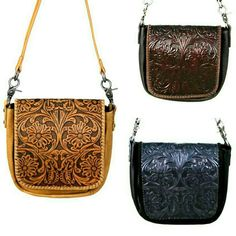 Floral Tooling Leather Purse Montana West Country Western Crossbody Bag Fringe Crossbody Bag, Canvas Crossbody Bag, Skull Purse, Western Purses, Fashion Handbags, Hermes Handbags, Leather Purses, Saddle Bags, Leather Men