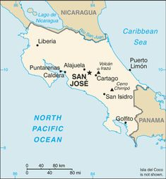 Costa Rica está en Sudamérica.  El capitol es San Juan.  Yo quiero ir a la Costa Rica porque tiene cascadas y excursiones.