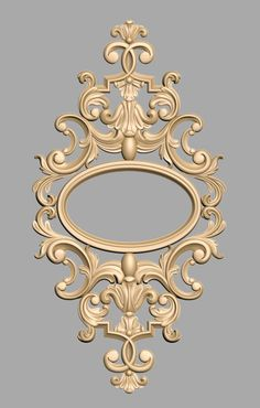 Wood Carving Designs, Wood Carving Patterns, Wood Carving Art, 3d Cnc, Wall Molding, Ornaments Design, Ceiling Medallions, Decopage, Floor Design