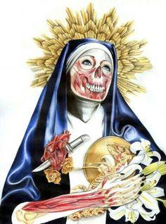 Juxtapoz Magazine - Horror-Inspired Creations of Kelly Durette Horror, Mystique, Arte Pop, Skull And Bones, Dark Beauty, Religious Art, Dark Art, Great Artists, Online Art
