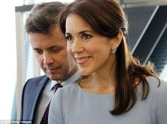 Natural beauty: Mary looked stunning on the occasion and wore a pair of diamond earrings...