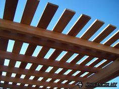 A nice clear cedar pergola built in Bergen St Brooklyn. by City Decks New York, LLC www.citydecksny.com