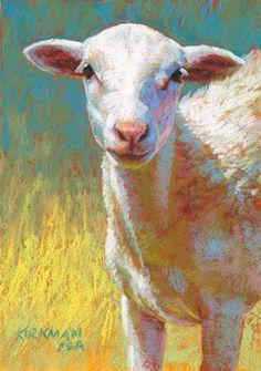 """Cauliflower"" by Rita Kirkman Sheep Paintings, Paintings I Love, Animal Paintings, Animal Drawings, Pastel Drawing, Pastel Art, Goat Art, Sheep Art, Farm Art"