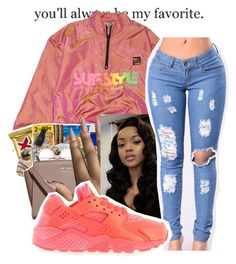 """""""Windbreaker Contest °°°"""" by littydee ❤ liked on Polyvore featuring NIKE"""