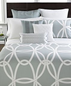 Hotel Collection Bedding, Modern Gate Queen Comforter