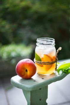 Feasting at Home: Peach and Elderflower Sangria