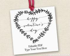 Printable Valentine's Day Tags // Editable by RevintagedArt
