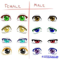 How to Draw Different Anime Eyes, Step by Step, Anime Eyes, Anime ...