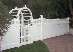 southland vinyl fences gates arbors decks rails balconies patio ...