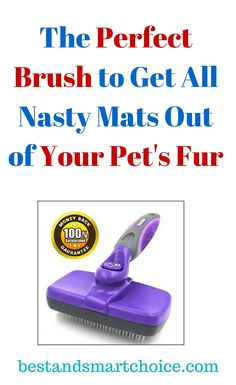 Brushing your pet with the Hertzko's Slicker Brush has never been fun or easy. This self-cleaning brush aids...continue reading by clicking here --> http://bestandsmartchoice.com/2015/09/the-perfect-brush-to-get-all-nasty-mats-out-of-your-pets-fur/