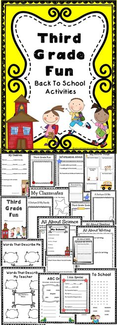 Third Grade Fun - A fun back to school activity book for third graders. #education