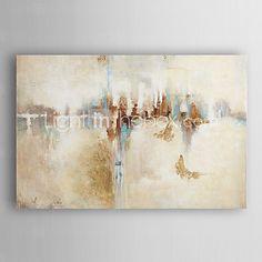Maalattu Abstrakti öljymaalauksia,Moderni 1 paneeli Kanvas Hang-Painted öljymaalaus For Kodinsisustus 2016 - €103.87