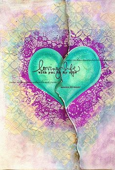 ART JOURNAL PAGE | LOVING LIFE | Nika In Wonderland Art Journaling and Mixed Media Tutorials
